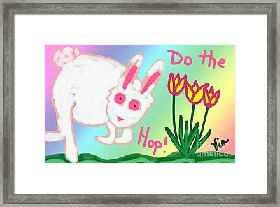 Do The Hop Framed Print by Judy Via-Wolff