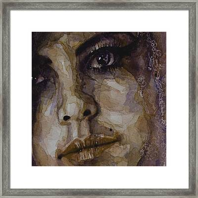 Do You Think Of Her When Your With Me Framed Print by Paul Lovering