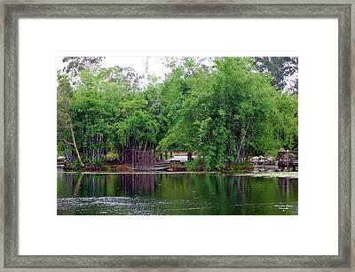 Dock Framed Print by Adriana Crosse