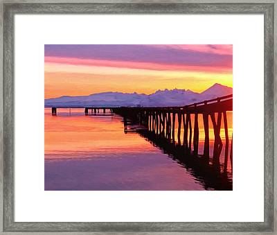 Dock At Cold Bay Framed Print by Michael Pickett