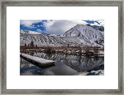 Dock At Convict Lake Framed Print by Cat Connor