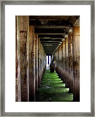 Dock Of The Bay Framed Print by Bill Gallagher