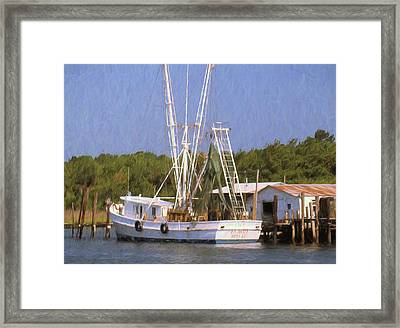 Dock Side Framed Print by Richard Rizzo