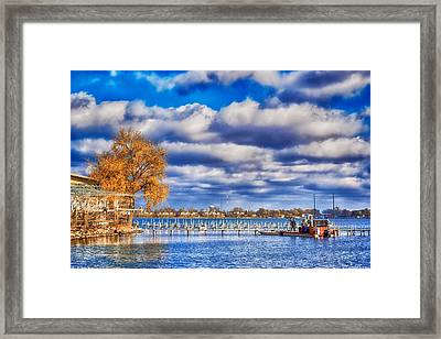 Dock Workers Framed Print by Ian Van Schepen
