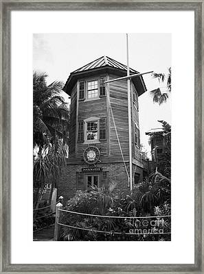 Dockmasters Office In Historic Seaport Key West Florida Usa Framed Print by Joe Fox
