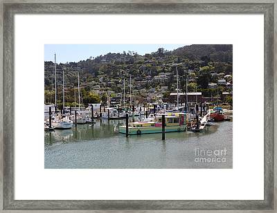 Docks At Sausalito California 5d22697 Framed Print by Wingsdomain Art and Photography