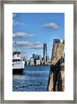 Docks In New York City Framed Print by Dan Sproul