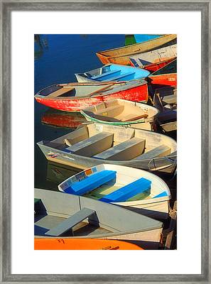 Dockside Parking Framed Print by Joann Vitali
