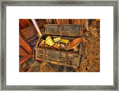 Doctor - Victorian Field Amputation Kit II Framed Print by Lee Dos Santos