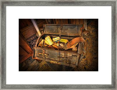 Doctor - Victorian Field Amputation Kit Framed Print by Lee Dos Santos