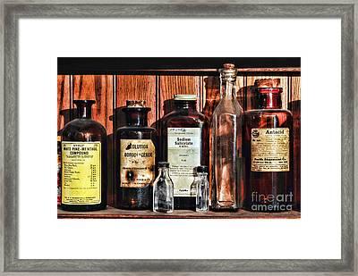 Doctor - Antacid In A Bottle Framed Print by Paul Ward