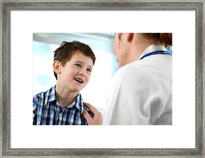 Doctor Consulting Framed Print by Tek Image