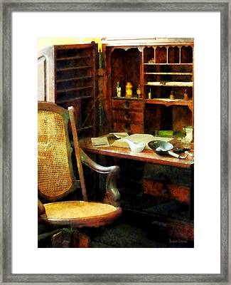 Doctor - Doctor's Office Framed Print by Susan Savad