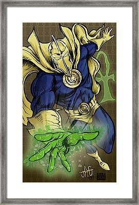 Doctor Fate Framed Print by John Ashton Golden