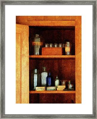 Doctor - Medicine Chest With Asthma Medication Framed Print by Susan Savad