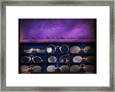 Doctor - Optometrist - Many Styles To Choose From  Framed Print by Mike Savad