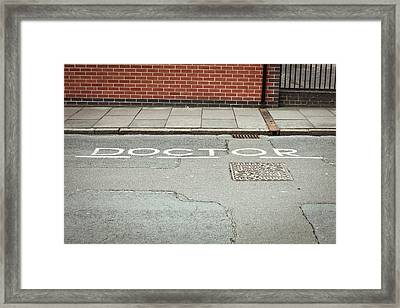 Doctor Parking Space Framed Print by Tom Gowanlock