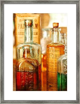 Doctor - Remedies For Hoarseness  Framed Print by Mike Savad