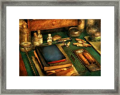 Doctor - The Busy Doctor Framed Print by Mike Savad