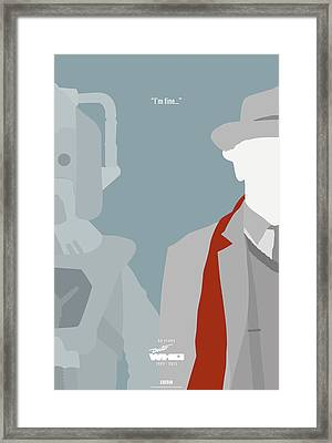 Doctor Who 50th Anniversary Poster Set Seventh Doctor Framed Print by Jeff Bell