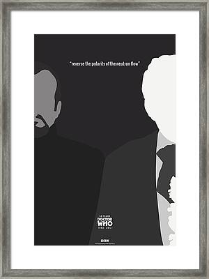 Doctor Who 50th Anniversary Poster Set Third Doctor Framed Print by Jeff Bell