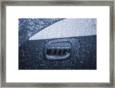 Dodge Charger Frozen Car Handle Framed Print by John McGraw