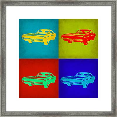 Dodge Charger Pop Art 2 Framed Print by Naxart Studio