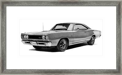Dodge Coronet Framed Print by Lyle Brown