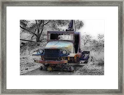 Dodge Tow Truck 2 Framed Print by Cheryl Young