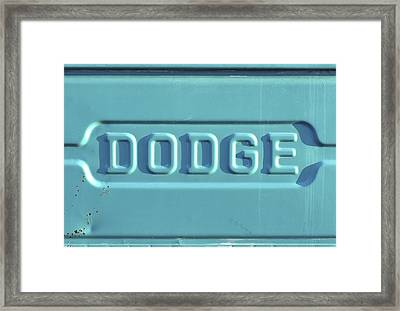 Dodge Truck Tailgate Framed Print by Terry DeLuco