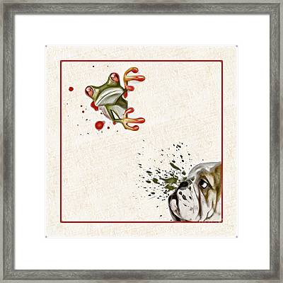Dog And Frog - 01fat2 Framed Print by Variance Collections
