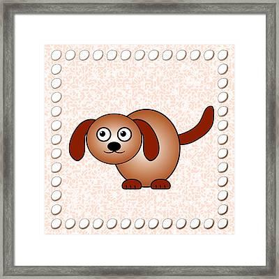 Dog - Animals - Art For Kids Framed Print by Anastasiya Malakhova