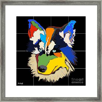 Dog Aski Framed Print by Roby Marelly