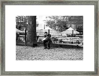 Dog Days In Nyc Framed Print by John Rizzuto