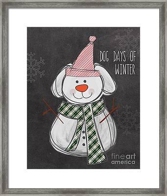 Dog Days  Framed Print by Linda Woods