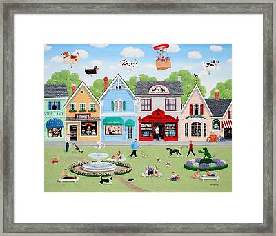 Dog Lovers' Lane Framed Print by Wilfrido Limvalencia