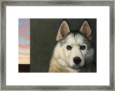 Dog-nature 9 Framed Print by James W Johnson