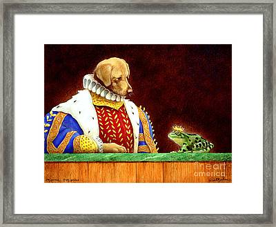 Dog Prince...frog Prince... Framed Print by Will Bullas