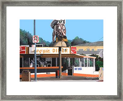 Doggie Diner 1986 Framed Print by Wingsdomain Art and Photography