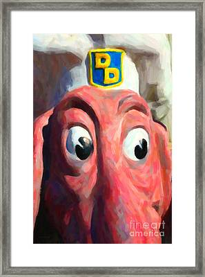 Doggie Diner Dog - Painterly - 5d20939 Framed Print by Wingsdomain Art and Photography