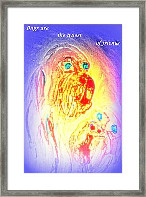 Dogs Are The Truest Of Friends And Enemies  Framed Print by Hilde Widerberg
