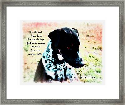 Dogs Rule - Verse Framed Print by Anita Faye