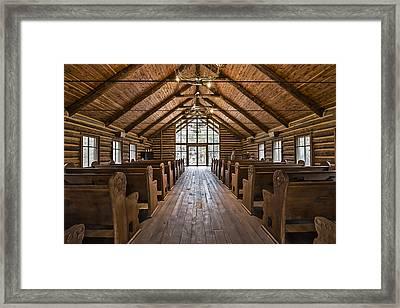 Dogwood Canyon Wilderness Chapel Framed Print by David Waldo
