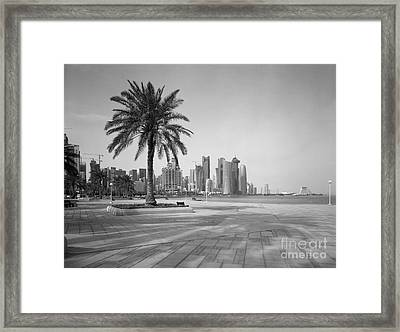 Doha Corniche April 2013 Framed Print by Paul Cowan