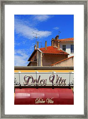 Dolce Vita Cafe In Saint-raphael France Framed Print by Ben and Raisa Gertsberg