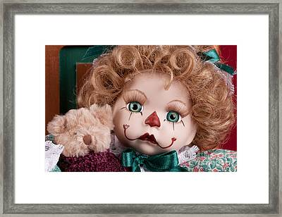 Doll Clown Framed Print by Cindy Singleton