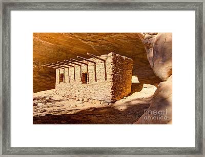 Doll House Anasazi Ruin - Utah Framed Print by Gary Whitton
