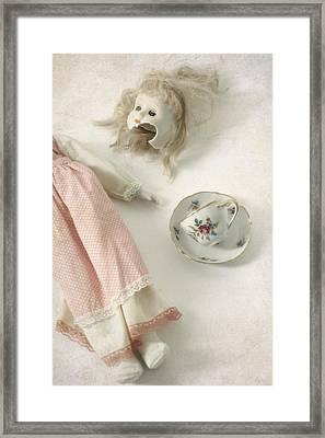 Doll With Tea Cup Framed Print by Joana Kruse