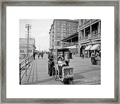 Dolly's Go-cart In Atlantic City Framed Print by Celestial Images