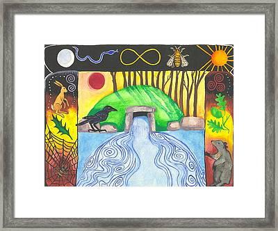 Dolmen Gateway Framed Print by Cat Athena Louise